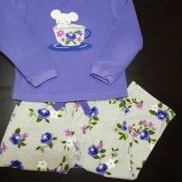 Conjunto Pijama Ratinha Floral Carters - 3 anos - Carter`s