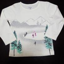 Blusa Carters Branca com Silk inverno - 2 anos - Carter`s