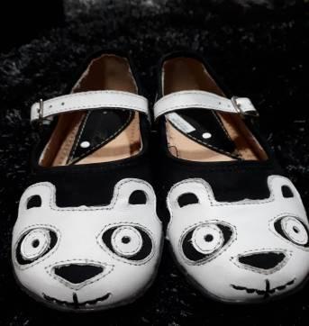 Sapatilha Ludique et Badin Panda - branco e preto - 27 - Ludique et Badin