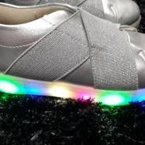 Tenis com LED Dok Prata - 28 - Dok