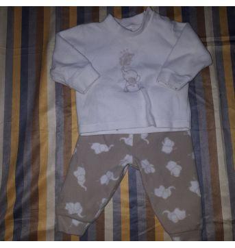 Conjunto Fleece elefantinho - 3 a 6 meses - Dedeka