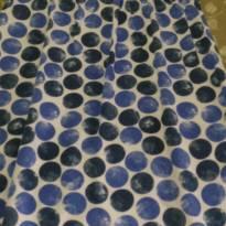 Lindo vestido em tecido de bolas - 3 anos - Duduka