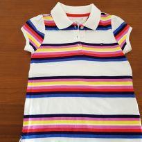 Blusa polo listrada - 4 anos - Tommy Hilfiger
