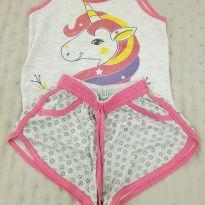 Pijama unicórnio - 4 anos - Não informada