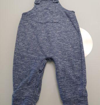 Linda jardineira imitando jeans da piublu - 9 meses - Piu Blu