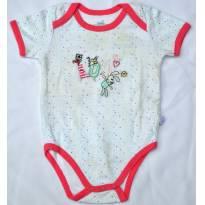 Body Menina Bambini Love Bichos 9-12 Meses - 9 a 12 meses - Bambini