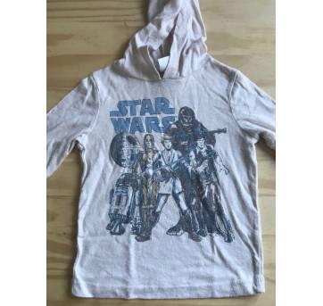 camisa com capuz star wars baby gap 12 meses - 1 ano - Baby Gap