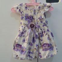 Vestido festa floral - 3 a 6 meses - melina