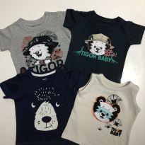 Blusinhas tigor baby e carters - 6 a 9 meses - Carter`s e Tigor T.  Tigre