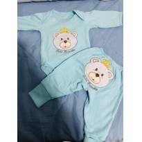 Conjunto de body e calça bebe brincalhão - Recém Nascido - Bebê Brincalhão