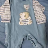 Macacão azul de ursinho - 0 a 3 meses - Nilly Baby