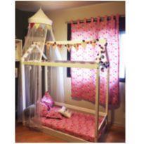 cama casinha montesoriana com decoração -  - Casa Tema