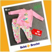 Pijama Manga Longa Gata Baby - Puket - 6 a 9 meses - Puket