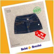 Mini Saia Jeans - 3 a 6 meses - Teddy Boom