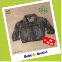 Jaqueta Jeans Masculina - 3 a 6 meses - Zara Baby