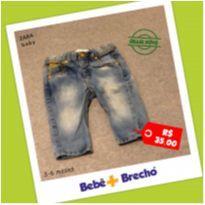 Calça Jeans Masculina Zara Baby - 3 a 6 meses - Zara Baby