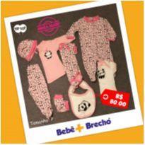 KIt Bebê 8 peças - Menina Tip Top - 0 a 3 meses - Tip Top