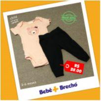 Conjunto Body + Calça - Carter`s - 3 a 6 meses - Child of Mine e Carter`s