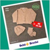 Kit Maternidade - Touca, Luvas e casaquinho - menina - Recém Nascido - N&N Baby