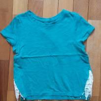 Camiseta com rendas laterais - 4 anos - GAP