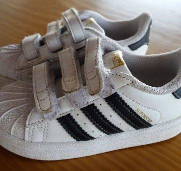 1f433380b Tênis Bebê Adidas Superstar Original tam. 20 20 no Ficou Pequeno ...