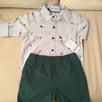 Carters - conjunto camisa e shorts - 18 meses - Carter`s