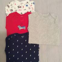 Carters - kit com 4 bodies manga longa estampado - 6  meses - 6 meses - Carter`s