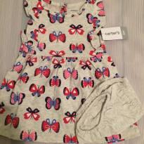 Carters - vestido borboletas - 6m - 6 meses - Carter`s