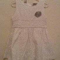 Vestido branco em lese - 2 anos - Milon e Brandili