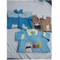 Kit  3 macacão - 3 a 6 meses - By Gabriely Baby
