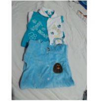 Kit 2  Macacão - 3 a 6 meses - Carolina Baby