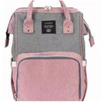 Bolsa/mochila maternidade lequeen original e nova cor rosa e cinza -  - Lequeen