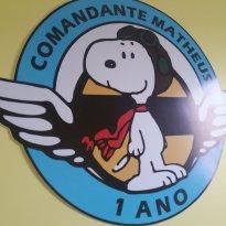 Placa Snoopy Aviador - Matheus - Sem faixa etaria - Artesanal