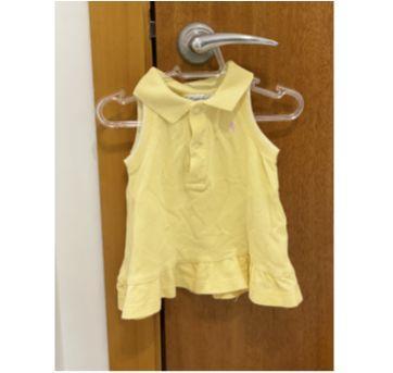 Vestido Regatinha Amarelo - 6 meses - Ralph Lauren