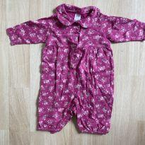 Romper GAP fúcsia floral - 3 a 6 meses - Baby Gap