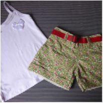 Conjunto Regata com Shorts - 4 anos - Não informada
