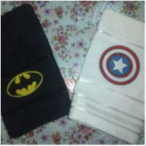 2 Toalhas bordada dos super-heróis -  - Não informada