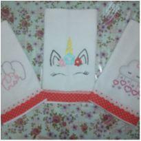3 toalhas de boca bordada -  - Não informada