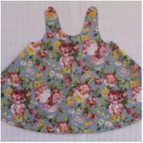 Vestido Floral - 9 a 12 meses - Fabricação própria