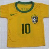 Camisetinha do Brasil - 1 ano - sem etiqueta