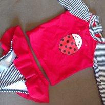 Conjunto Camisa e biquini com babados (calcinha) Proteção Solar Uv 50 - 12 a 18 meses - Baby Way
