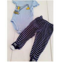 Conjunto Carter`s //  body e calça comprida com pezinho - 6 meses - Carter`s