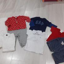 Lotinho com 8 peças 3 a 9 meses (boas marcas como gap, Zara, Milon e outras) - 3 a 6 meses - Variadas