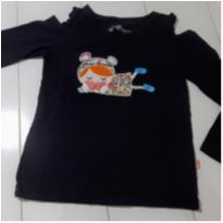 Blusa preta manga comprida da Alphabeto - 4 anos - Alphabeto