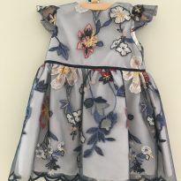 Vestido de festa bordado azul - 2 anos - Paola Da Vinci