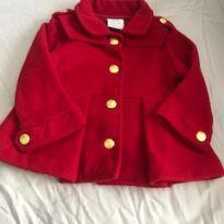 Casaco Vermelho de Lã - 9 a 12 meses - Paola Da Vinci