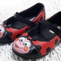Sapatilha de Couro Joaninha Ladybug - 20 - Pinokio
