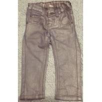 Calça Jeans Slim com Brilho. Muuito Fashion e Estilosa! - 9 a 12 meses - Marisol