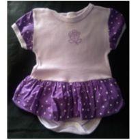 Body com sainha de bolinhas - 6 a 9 meses - Sof & Enz Kids