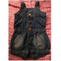 Body jardineira em Jeans Destroyed - 9 a 12 meses - Baby Club